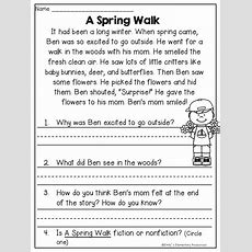 Spring Fling Writing & Literacy Activities  Firstgradefacultycom  Reading Comprehension