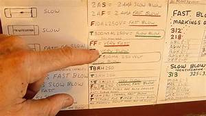 Fuse Identification Mystery Marking Revealed  Slow Blow Vs