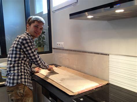 cr馘ence de cuisine ikea comment poser une credence en inox maison design bahbe com