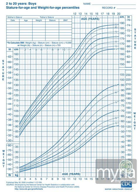 Boys Growth Chart Calculator