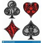 Poker Symbols Background Card Tattoo Playing Hearts