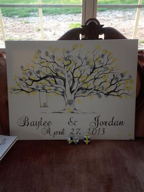 ideas  wedding fingerprint tree  pinterest