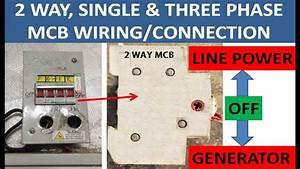 Two  2  Way Single  Three Phase Mcb  Circuit Breaker  Switch