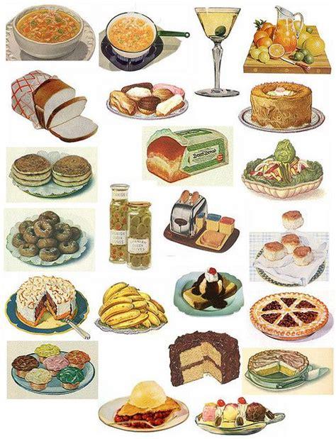 cuisines vintage printable collage sheet of vintage food items vintage