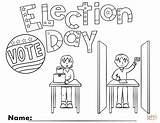 Election Coloring Pages Drawing Printable Crafts Puzzle Democratic Donkey Patriotic Rights Games Supercoloring Categories sketch template