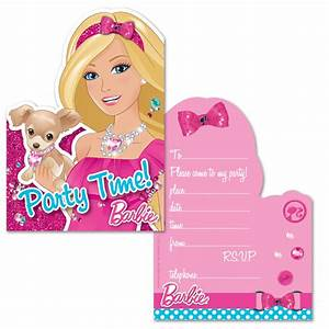 Barbie Invitation Cards - Barbie Theme Party - Party Ark