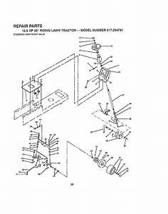 Craftsman 917254791 User Manual 12 5 Hp 38 Riding Lawn