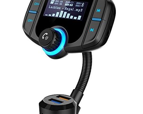 bluetooth fm transmitter grde kfz wireless radio adapter
