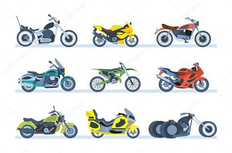 Veículos Terrestres. Diferentes Tipos De Motocicletas