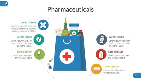 pharmacy powerpoint  template  sananik