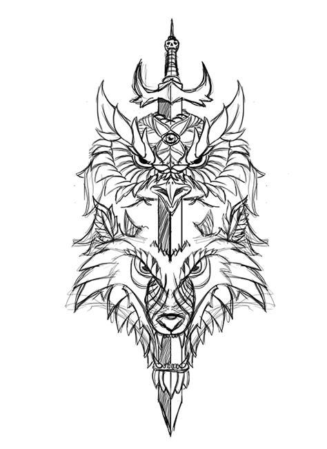 HYBRID (Owl & Wolf) on Behance