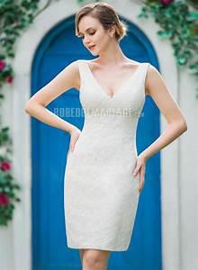 Robe Mariée Courte Pas Cher : magnifique robe de mari e civile courte en dentelle pas cher robe2012794 ~ Mglfilm.com Idées de Décoration