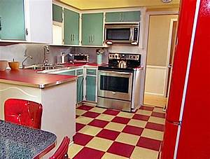 Someday, I want red and white checkered tile in my kitchen ...