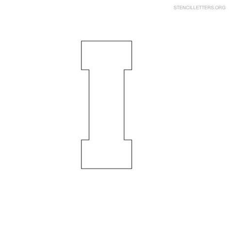 Block Letter Templates by Stencil Letter Block I C Stencils Lettering Letter