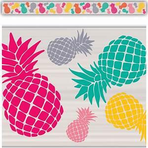 Tropical Punch Pineapples Straight Border Trim - TCR2157 ...  Border