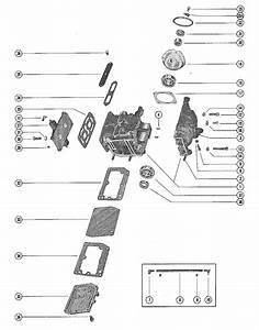 Mercury Marine 110 Cylinder Block  U0026 Crankcase Assembly Parts