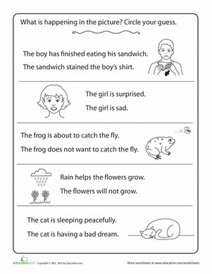 Making Inferences  Worksheet Educationcom