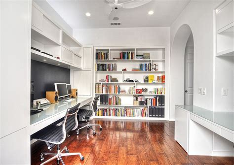 ways  decorate home office  white