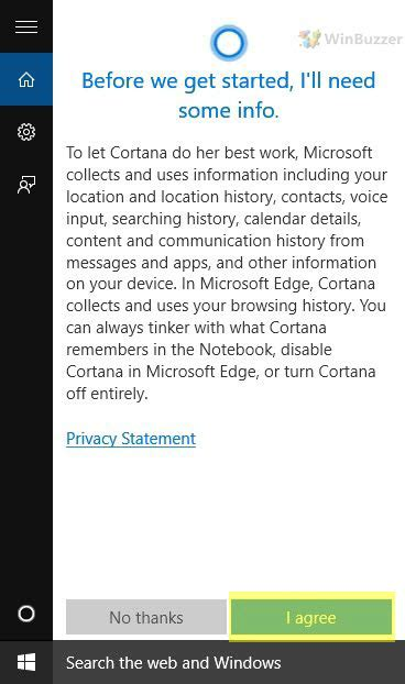 how to disable cortana turning the voice assistant of windows 10 on or winbuzzer