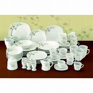 Service De Table Porcelaine : service de table assiette porcelaine 62 pieces 6 personnes orchidee achat vente service ~ Teatrodelosmanantiales.com Idées de Décoration