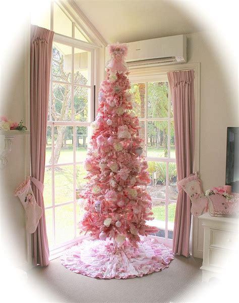 christmas christmas tree kawaii chic pink shabby christmas