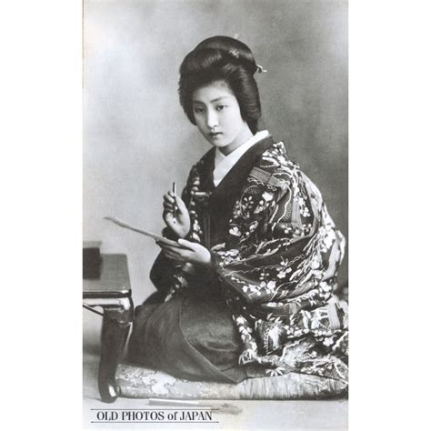 japan woman writing letter