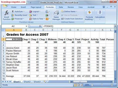 microsoft excel formulas tab it computer