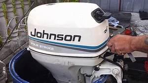 1999 Johnson 8 Hp Outboard Motor 4-stroke   4-suw