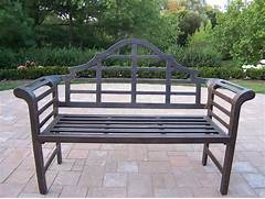 Garden Bench Seating by Metal Outdoor Bench Choosing Maintaining And Decorating Front Yard Landsc