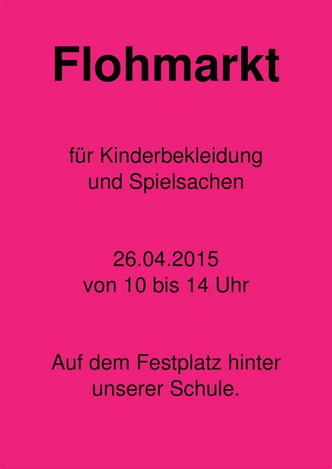 flyer flohmarkt  chris