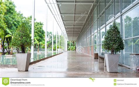 Outdoor Corridor Of Architecture Perspective Royalty Free