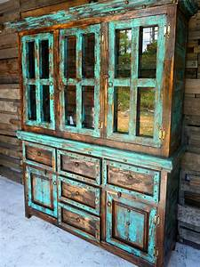 rustic hutch sofia39s rustic furniture With best brand of paint for kitchen cabinets with large glass candle holders wholesale