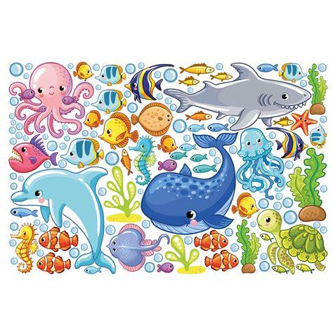 Wandtattoo Kinderzimmer Unterwasserwelt wandtattoo kinderzimmer unterwasserwelt fisch set
