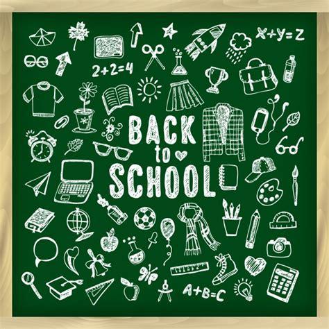 school chalkboard background vector