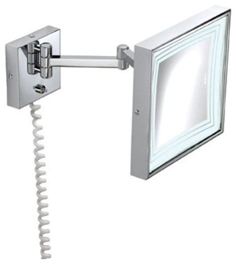 pom d or square wall mount extendable magnifying 3x