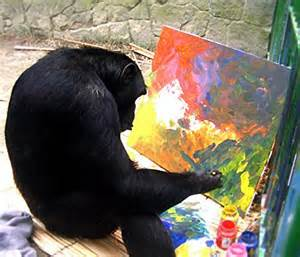 Image result for chimp painting