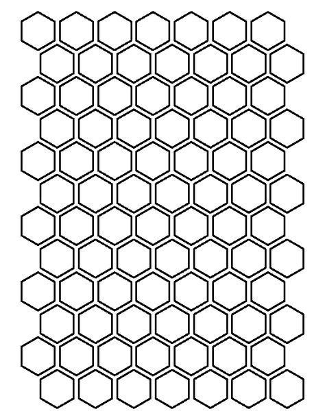hexagon pattern   printable outline