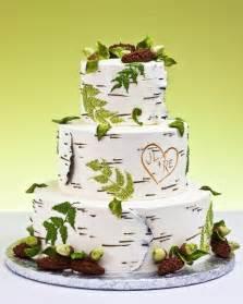 rustic wedding cakes birch rustic wedding cake