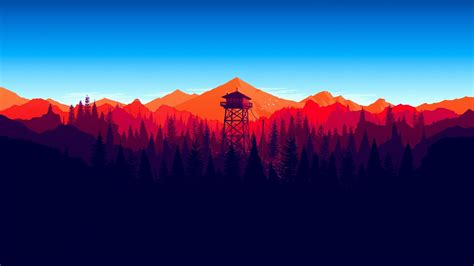 Firewatch Wallpapers 1920x1080 by 1920x1080 Firewatch Forest Landscape In