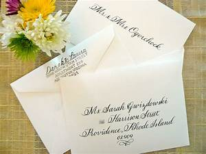 simply handwritten diy wedding invitations and envelope With wedding invitations addressing etiquette no inner envelope