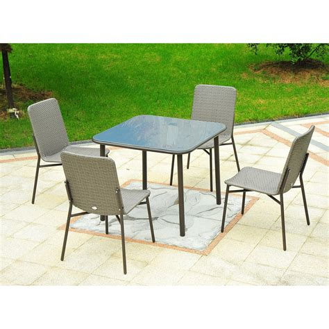 outsunny patio furniture outsunny 5 metal rattan wicker outdoor furniture set
