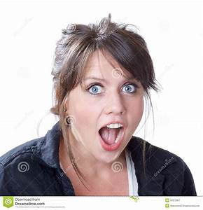 Close-up Of Shock And Surprise Expression Stock Image ...