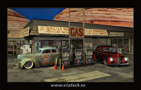 Dessert Gas Station By Hermanform On