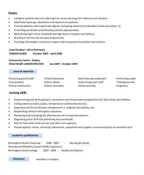 Registered Resume Sles by Nursing Resume Objective 7 Documents In Pdf