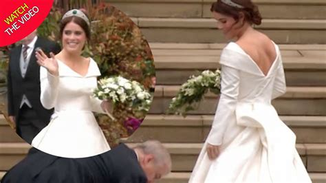 Princess Eugenie Wedding Dress Shows Back Surgery Scars