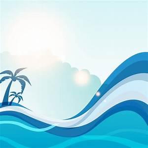 Free vector Summer sea wave vector background #26174 | My ...