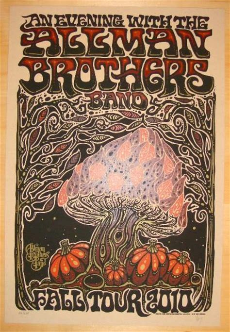 allman brothers fall  concert poster  jeff