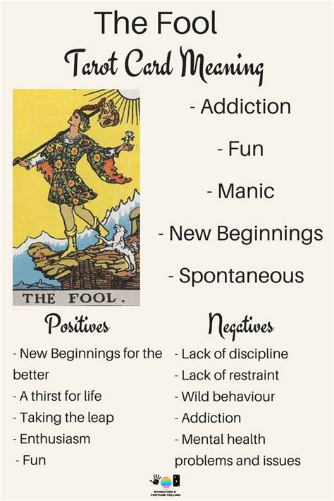 Detailed tarot card meaning for the hermit including upright and reversed card meanings. Future Tarot Meanings - The Fool — Lisa Boswell