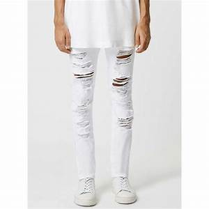White Jeans Ripped For Men   White Jeans For Men