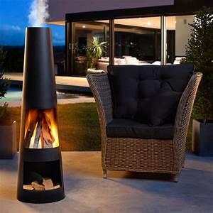 Feuerstelle Für Terrasse : gardenmaxx rengo black gartenkamin 120 cm h online kaufen ~ Frokenaadalensverden.com Haus und Dekorationen